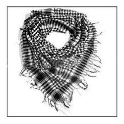 Pañuelo Palestino Grueso Blanco/Negro