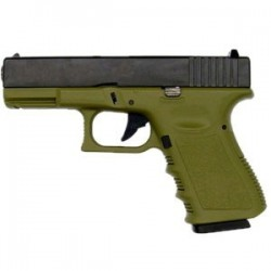 KJW GLOCK G23 GAS BLOWBACK OD GREEN METAL