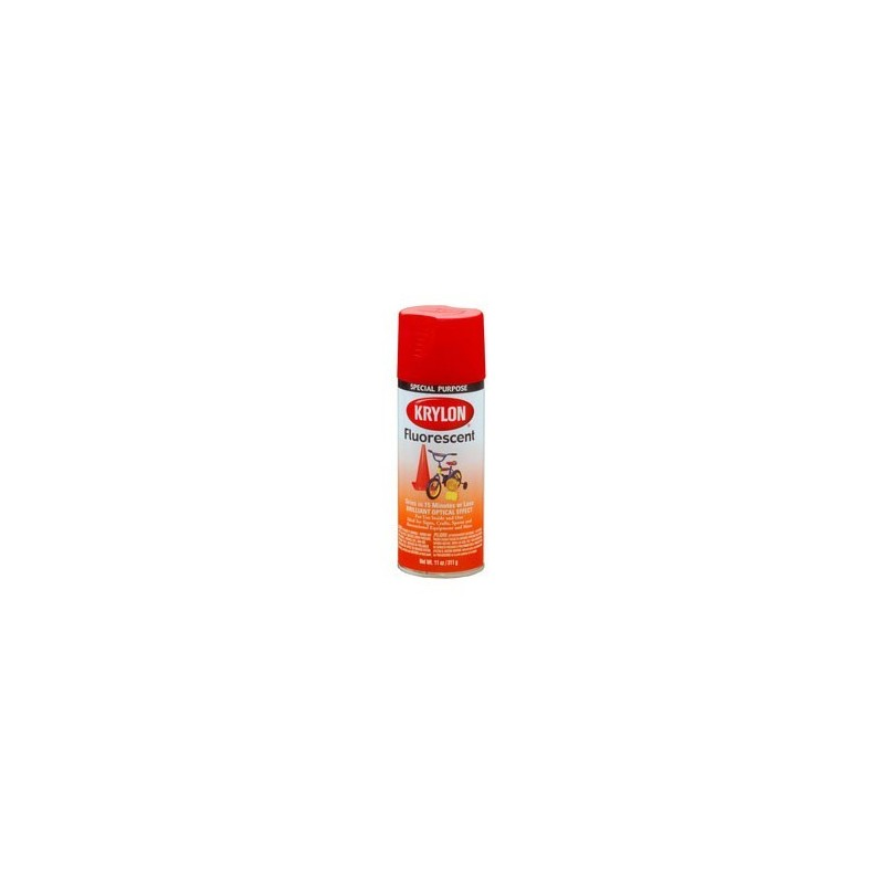 krylon fluorescent paint red orange
