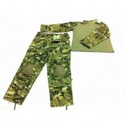 Uniforme CP combat con rodilleras estilo MILTICAM XL