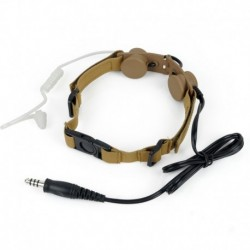 Z-TACTICAL Tactical Throat Mic Tan LARINGOFONO
