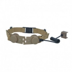 Z-TACTICAL THROAT MICROPHONE ADAPTER FOR BOW EVO III TAN