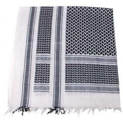 Pañuelo palestino negro-blanco