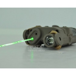 AN/PEQ-15 GREEN Laser Flashlight TAN