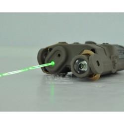 AN/PEQ-15 GREEN Laser Flashlight TAN