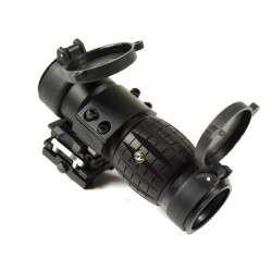 3X Magnifier for Red Dot flip to side mount