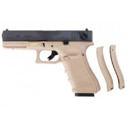 WE GLOCK E18 GEN4 GAS BLOWBACK TAN