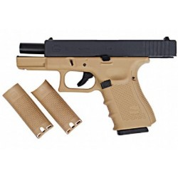 WE GLOCK E19 GEN4 GAS BLOWBACK TAN