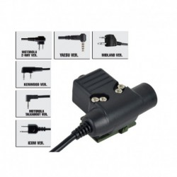 Z-TACTICAL CONECTOR U94 PTT DE BOWMAN PARA MIDLAN 2 PIN