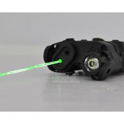 FMA AN/PEQ-15 laser verde con linterna BK