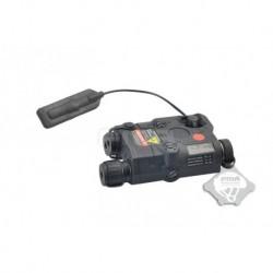 FMA AN/PEQ 15 laser rojo con linterna Negro