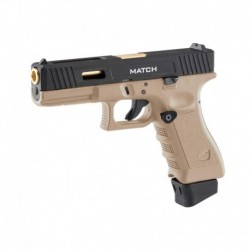STARK ARMS CO2 BLOW BACK S17 MATCH CUERPO TAN CORREDERA NEGRA