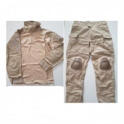 Uniforme DELUXE combat navy seal 3d sand tan