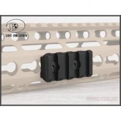 Rail corto para Keymod negro