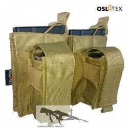 OSLOTEX Portacargador Doble M14 Kanguro Coyote