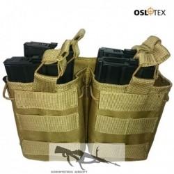 OSLOTEX Portacargador Doble-Doble M4/M16 Coyote