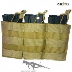 OSLOTEX Pouch Portacargador Triple M4 Coyote