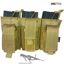 OSLOTEX Pouch Portacargador Triple Kanguro M4 Coyote