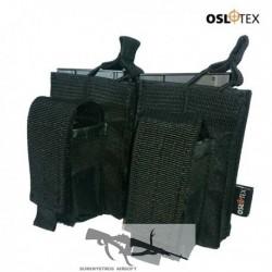 OSLOTEX Portacargador Doble M14 Kanguro BK