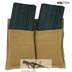 OSLOTEX Pouch Portacargador Doble Elástico M4/M16 Coyote