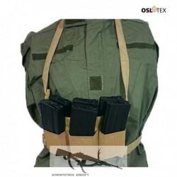 OSLOTEX Pouch Portacargador Elástico Six Pack M4/M16 Coyote