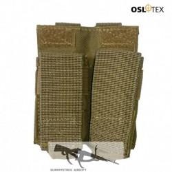 OSLOTEX Portagranada 40mm o Cargador Pistola Doble Velcro Coyote