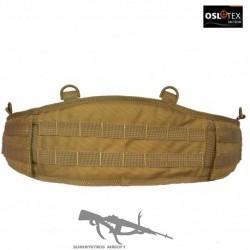 OSLOTEX Cinturón de Combate Molle Talla XL con Doble Tapa Levantable Coyote