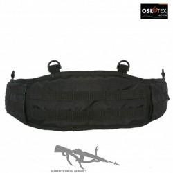 OSLOTEX Cinturón de Combate Molle Talla XL con Doble Tapa Levantable BK
