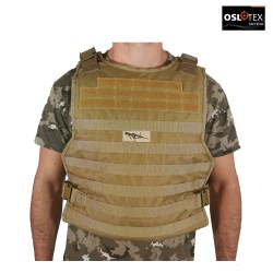 OSLOTEX Plate Carrier de Asalto Táctico Simple Coyote