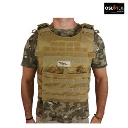 OSLOTEX Chaleco Tactical Warrior Coyote 1000D