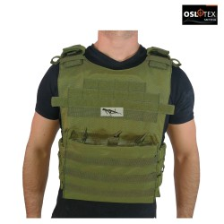 OSLOTEX Chaleco Tactical Warrior OD 1000D