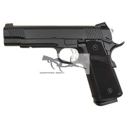 KJ WORKS TACTICAL K1911 (KP-05) HI-CAPA CO2 BLOWBACK NEGRO