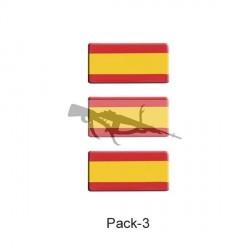 PEGATINA ABULTADA ESPAÑA PACK 3UN