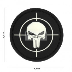 PARCHE 3D PVC PUNISHER SIGHT NEGRO