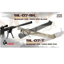 Silenciador SR25 ARES M110 370mm SIL-07 TAN