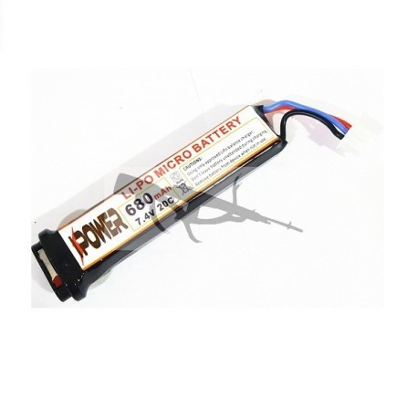 Bateria lipo para PISTOLA ELECTRICA IPower 7.4v 680mah 20c
