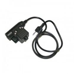 Z-TACTICAL CONECTOR U94 PTT DE BOWMAN PARA KENWOOD 2 PIN